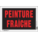 "French Wet Paint Sign (8"" x 12"")"