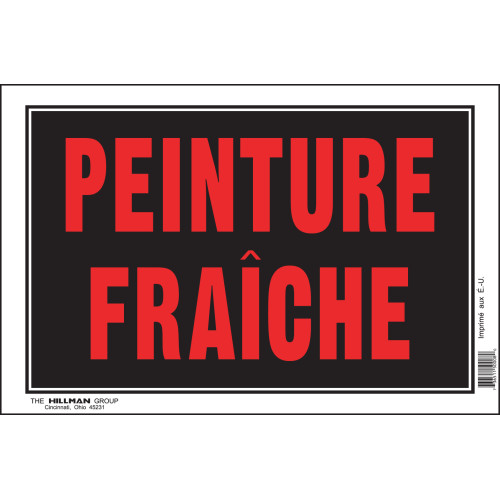 French Wet Paint Sign (8