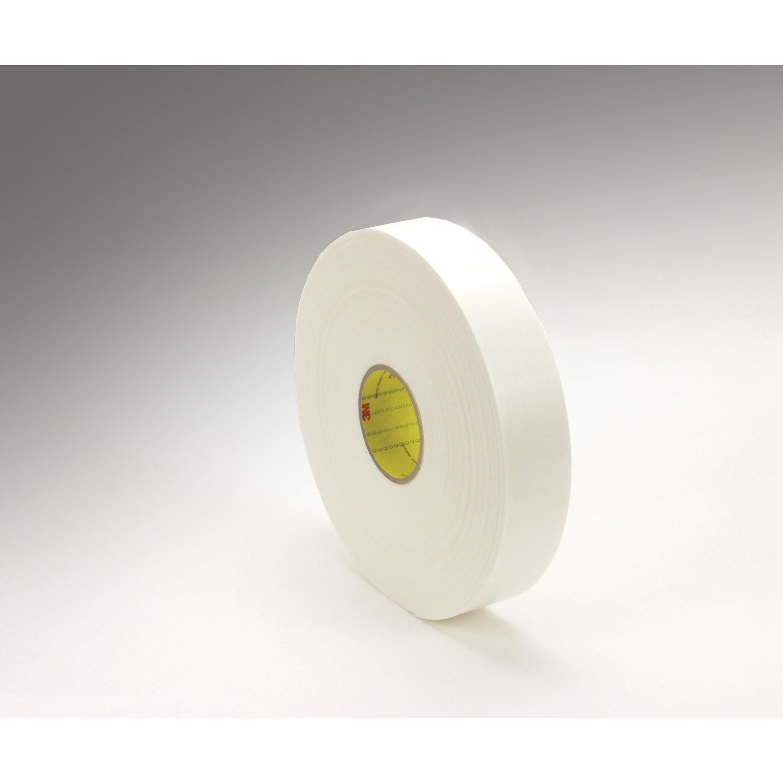 3M™ Double Coated Polyethylene Foam Tape 4466, White, 1/2 in x 36 yd, 62 mil, 18 rolls per case