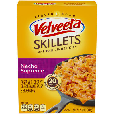 Velveeta Classic American Skillets Nacho Supreme Dinner Kit, 15.66 oz Box