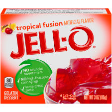 Jell-O Tropical Fusion Gelatin Mix, 3 oz Box
