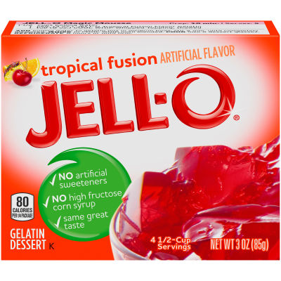 Jell-O Tropical Fusion Gelatin Mix 3 oz Box