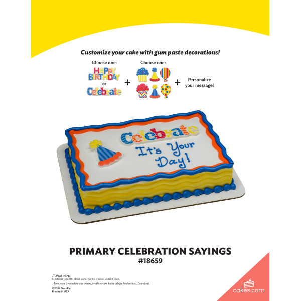 Primary Celebratory Sayings The Magic of Cakes® Page