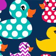 Swatch for Printed Duck Tape® Brand Duct Tape - Happy Camper, 1.88 in. x 10 yd.