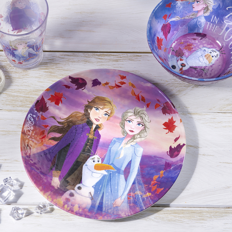 Disney Frozen 2 Movie Kids 9-inch Plate and 6-inch Bowl Set, Anna and Elsa, 2-piece set slideshow image 2