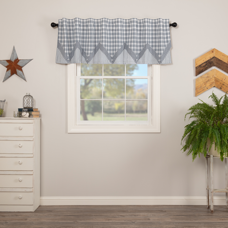VHC Farmhouse Valance Sawyer Mill Kitchen Curtains Rod