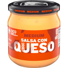 Taco Bell Medium Salsa Con Queso Dip, 15 oz Jar