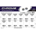 Chrome Nylon Insert Lock Nuts & Hex Nuts Assortment (SAE)