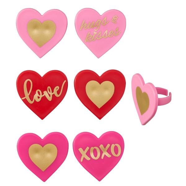 Love Heart Cupcake Rings