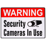 "Adhesive Security Cameras in Use Sign (4"" x 6"")"