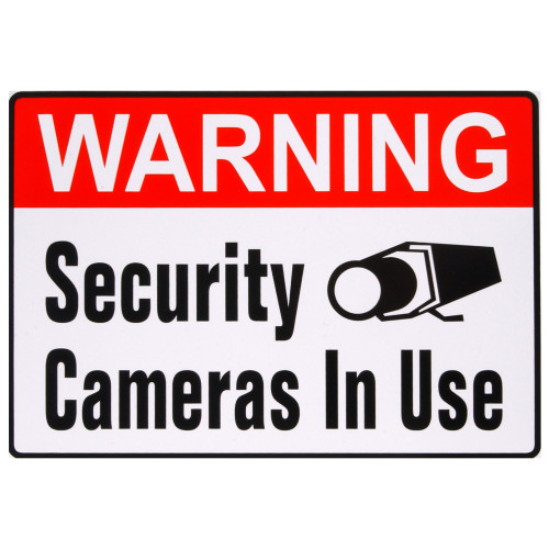 Adhesive Security Cameras In Use Sign