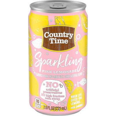 Country Time Sparkling Pink Lemonade 7.5 fl oz Can