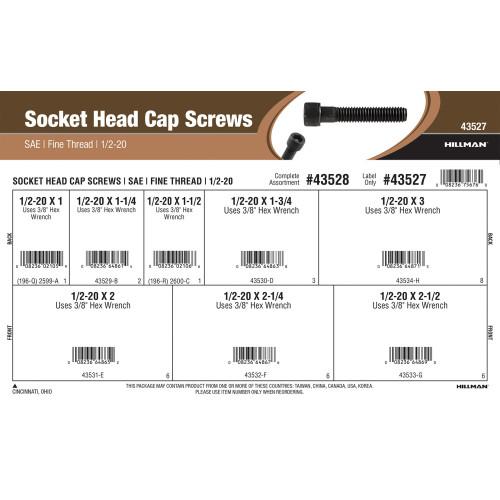 Socket-Head Cap Screws Assortment (1/2