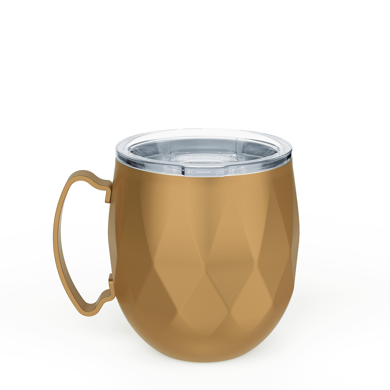 Fractal 19 ounce Mule Mug, Copper slideshow image 4