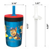 Paw Patrol 15  ounce Plastic Tumbler, Chase, Skye, Marshall and Friends, 3-piece set slideshow image 5
