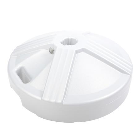 Empty Patio Table Umbrella Base - White 1