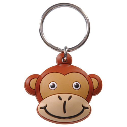 Monkey Head Key Chain