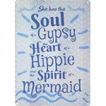 "Spirit of a Mermaid Novelty Sign (10"" x 14"")"