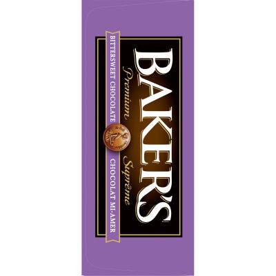 Baker's 100% Pure Premium Bittersweet Chocolate Baking Bar