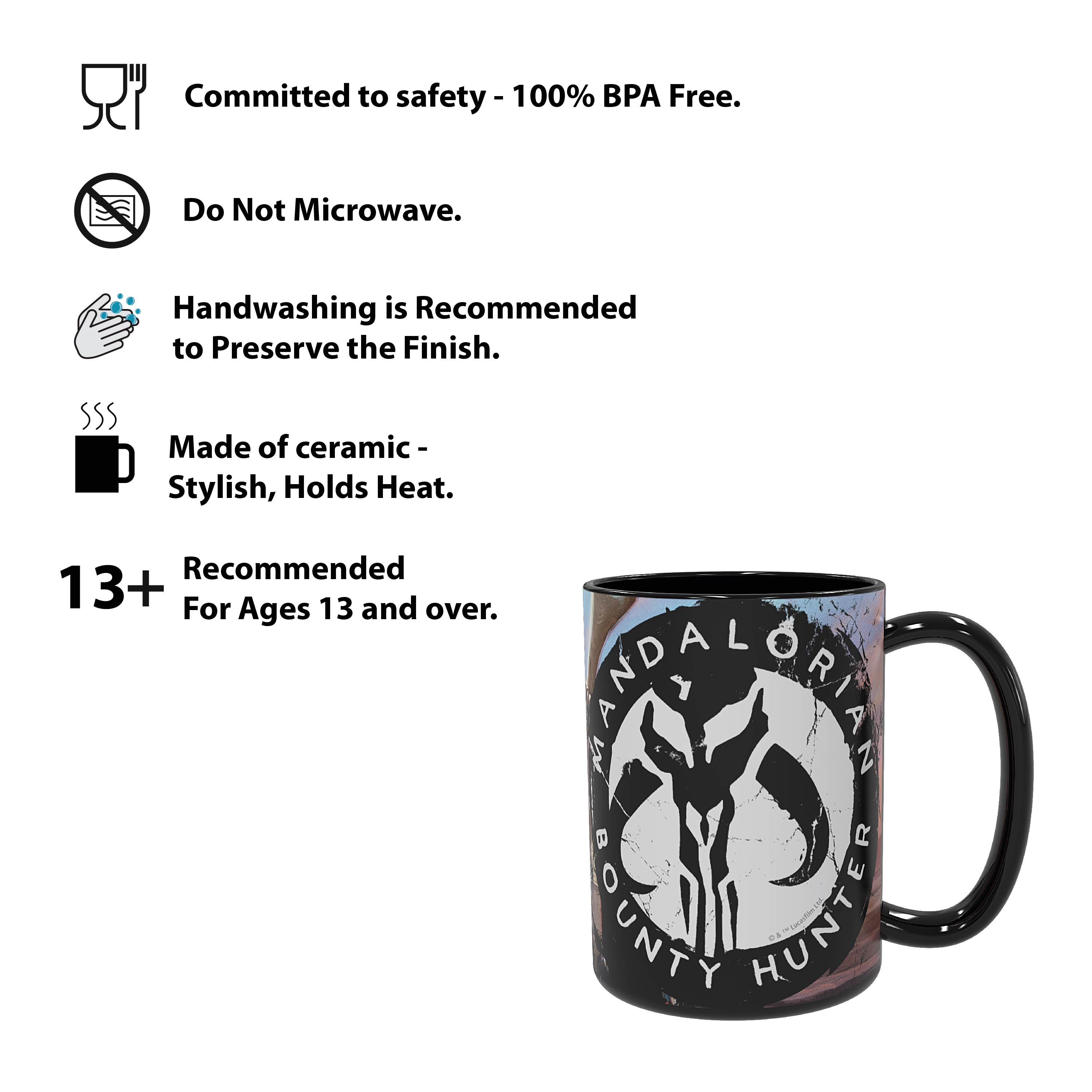 Star Wars: The Mandalorian 15 ounce Ceramic Coffee Mugs, The Mandalorian slideshow image 3
