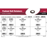 "Pushnut Bolt Retainers Assortment (#6 thru 1/2"" Diameters)"