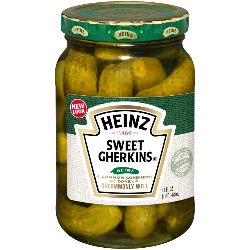 Heinz Premium Sweet Gherkins Pickle, 16 fl oz Jar image