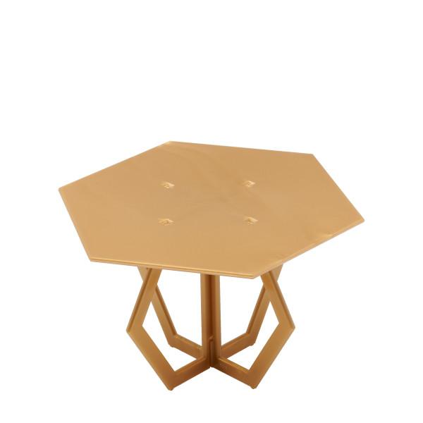 "Hexagon 6"" Gold Cake Stand"