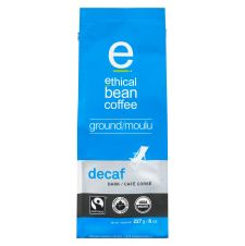 Ethical Bean Decaf Dark Roast Ground Coffee - Organic - Fairtrade Certified, 227g
