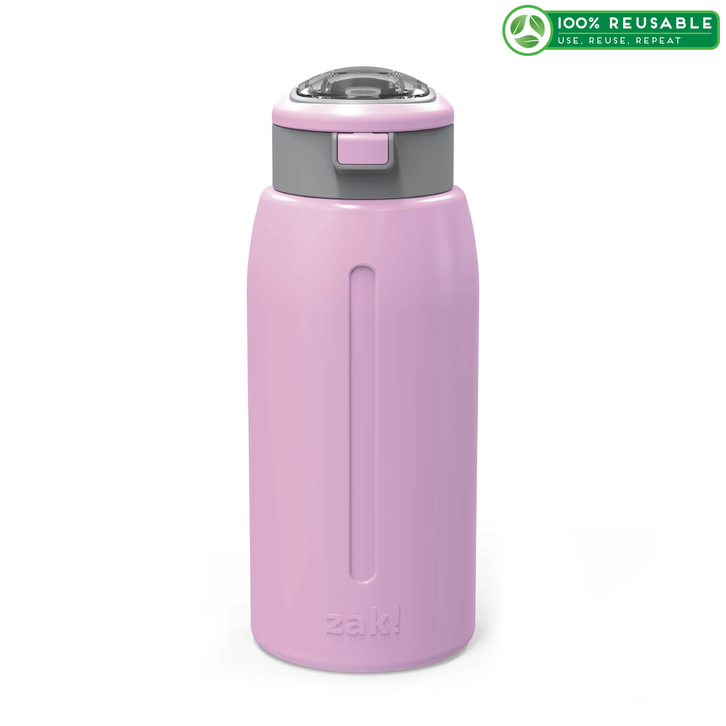 Genesis 32 ounce Stainless Steel Water Bottles, Lilac slideshow image 1