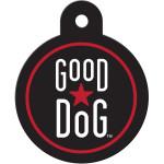 Good Dog Black Circle Quick-Tag