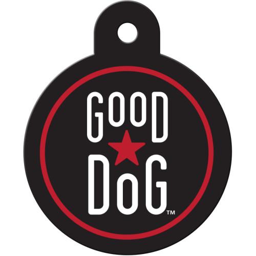 Good Dog Black Circle Quick-Tag 25 Pack