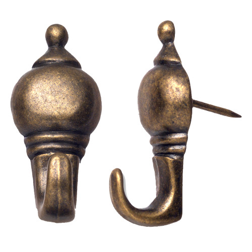 OOK Colonial Antique Brass Push Pin Hanger 10lbs