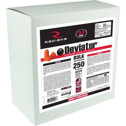 Radians Deviator® Foam Earplug 250 Pair Dispenser Refill