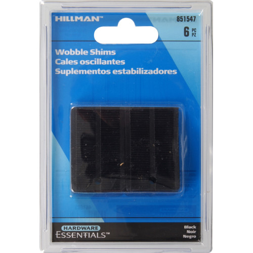 Hardware Essentials Black Wobble Shims