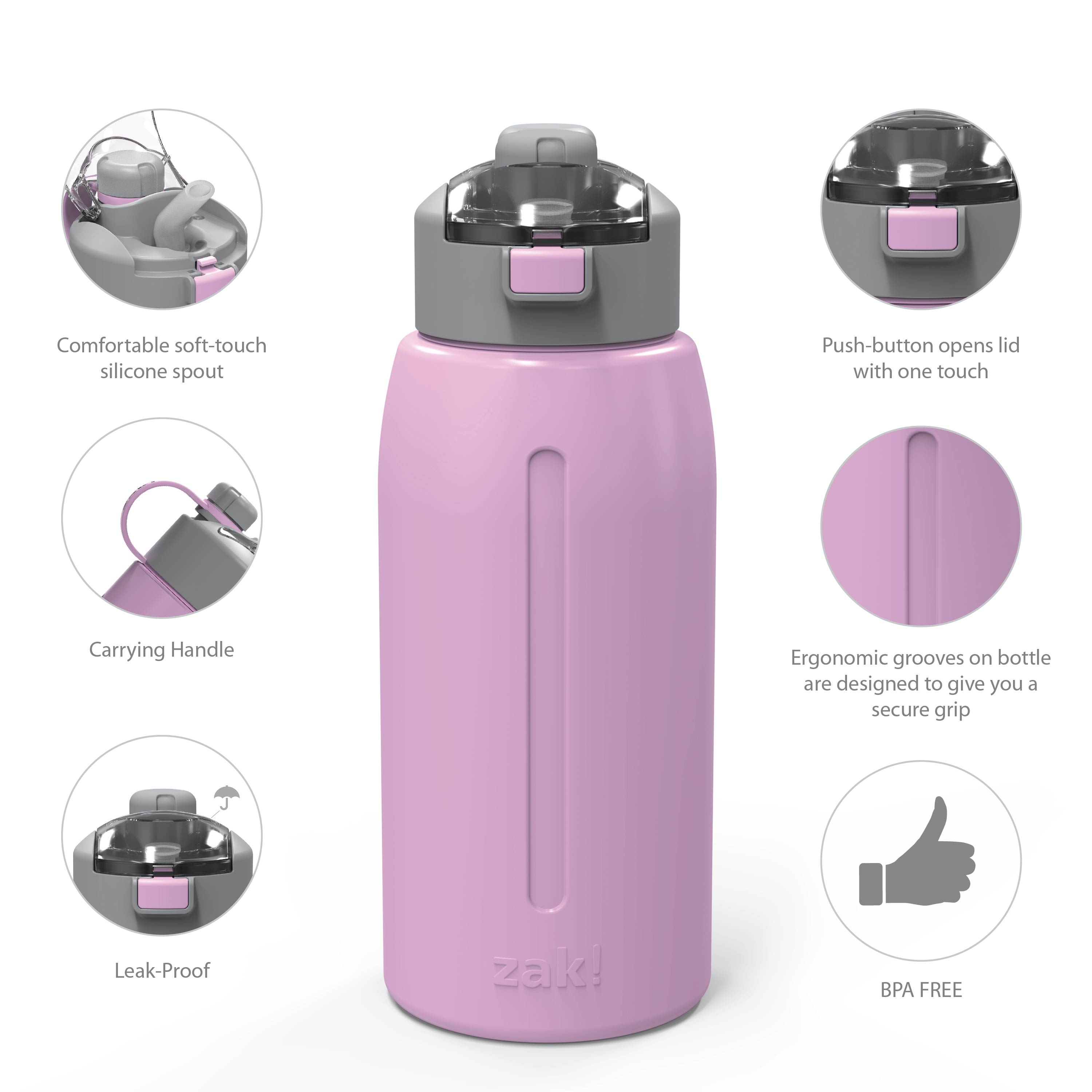 Genesis 32 ounce Vacuum Insulated Stainless Steel Tumbler, Lilac slideshow image 9