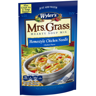 Wyler's Mrs. Grass Homestyle Chicken Noodle Hearty Soup Mix 5.93 oz Pouch