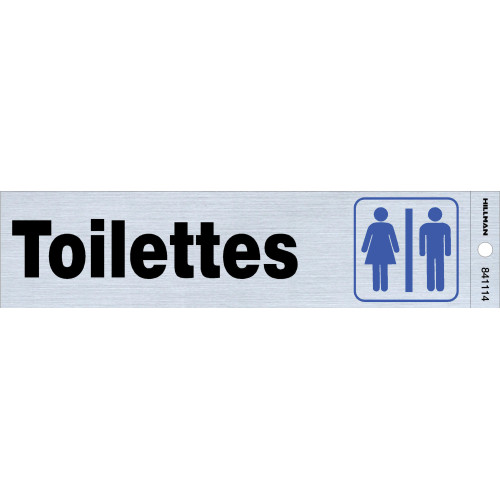 French Adhesive Restrooms Sign (2