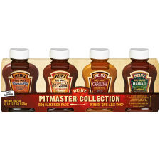 Heinz BBQ Sauce Sampler Pitmaster Collection 4 count Sleeve