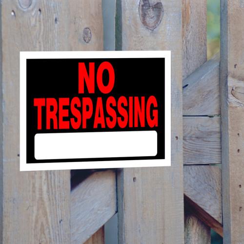 Adhesive No Trespassing Sign (8