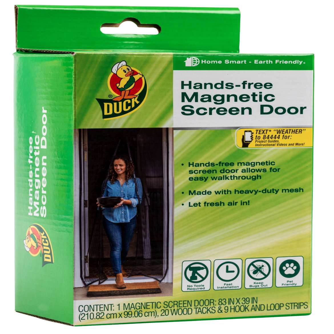 Duck® Hands-Free Magnetic Screen Door