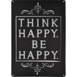 """Think Happy Be Happy Novelty Sign (10"""" x 14"""")"""