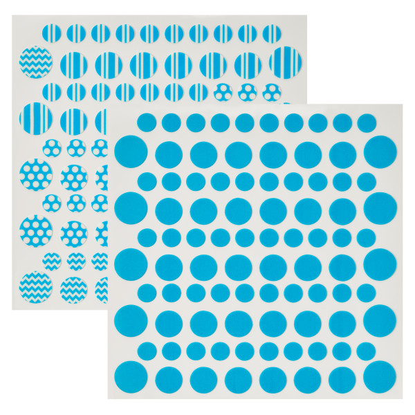 Bright Blue Printed Dots Fondant DecoShapes®