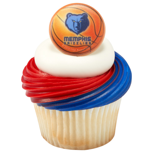 NBA Team Basketball Cupcake Rings