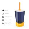 Zak Hydration 16 ounce Mighty Mug Tumbler with Straw, Navy slideshow image 4