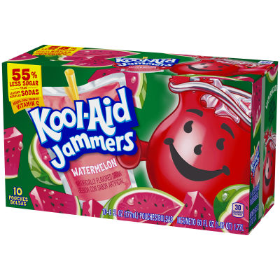 Kool-Aid Jammers Watermelon Ready-to-Drink Soft Drink 10 - 6 fl oz Packets