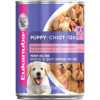 Eukanuba Puppy Puppy Mixed Grill Chicken & Beef Dinner in Gravy Formula Canned Dog Food