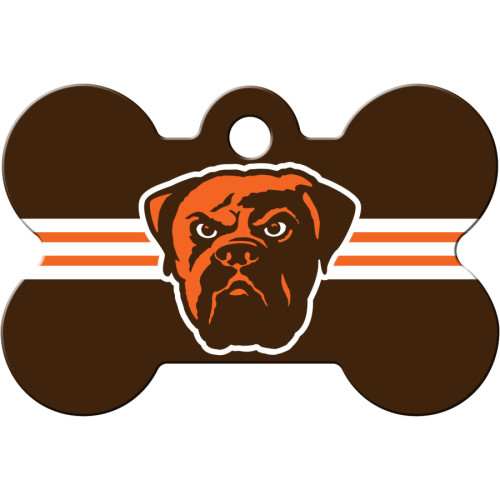 Cleveland Browns Large Bone ID Spot Tag 5 Pack