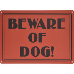 "Vintage Beware of Dog Novelty Sign (10"" x 14"")"