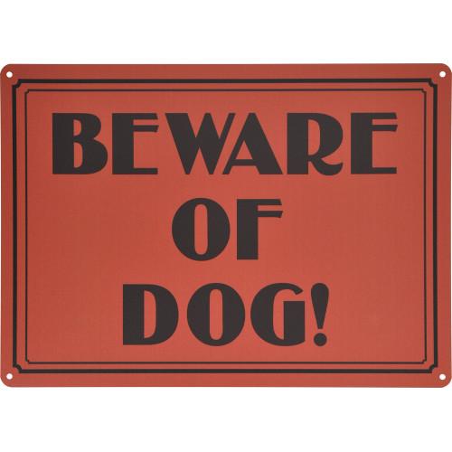 Vintage Beware of Dog Novelty Sign (10