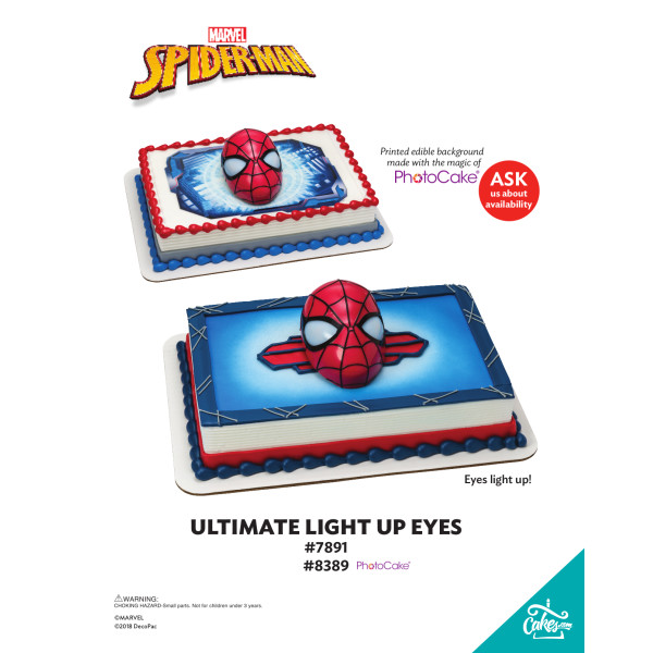 SPIDER-MAN ULT LIGHT UP EYES-BGI TMOC PAGE The Magic of Cakes® Page